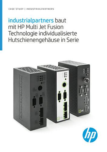 industrialpartners baut mit HP Multi Jet Fusion Technologie individualisierte Hutschienengehäuse in Serie