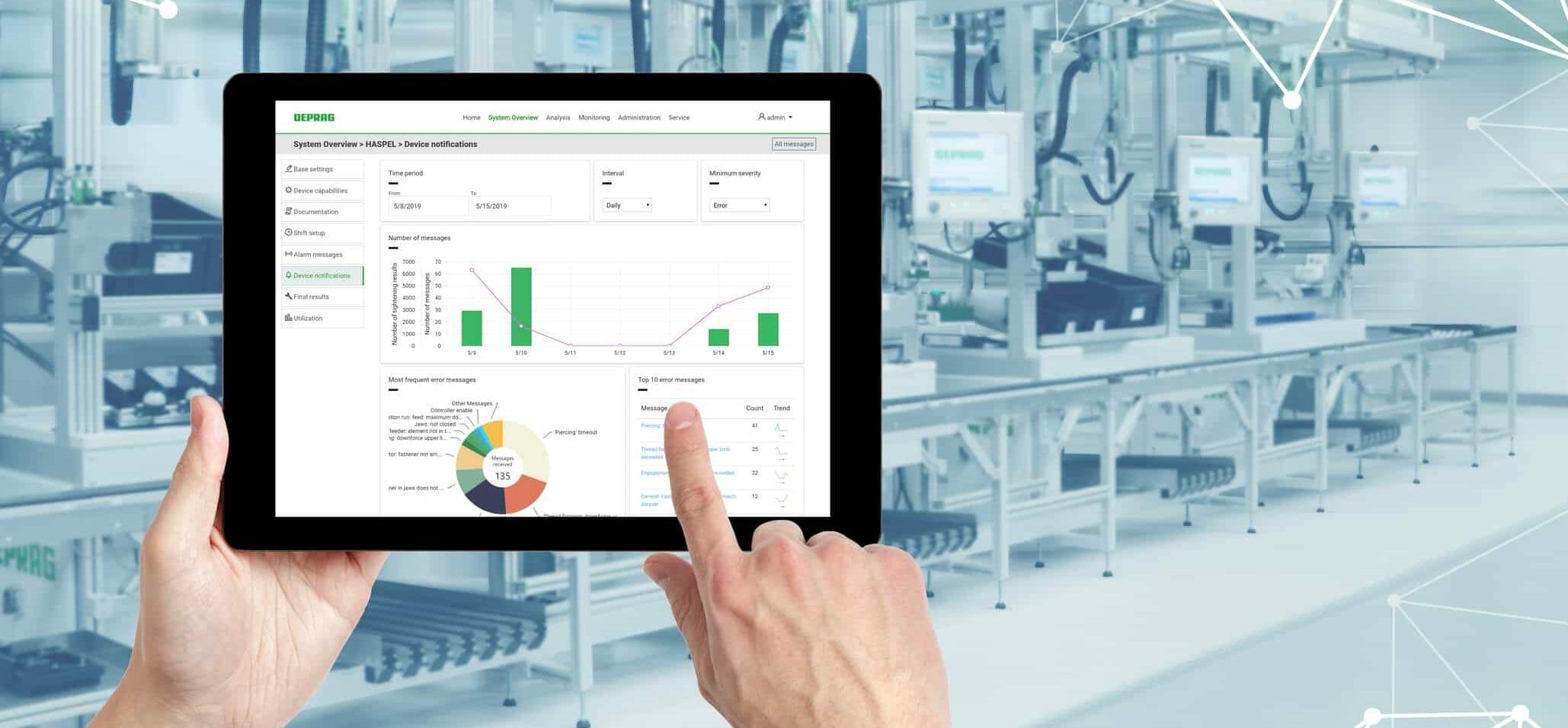 Montagetechnik: Deprag sorgt zur Motek 2019 für mehr Datentransparenz bei Schraubsystemen