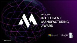 """Intelligent Manufacturing Award 2020"""" von Microsoft und Roland Berger"""