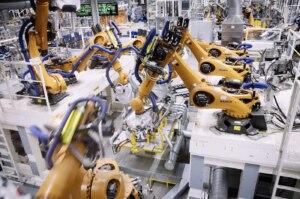 Mehr als 1.700 Roboter in der Volkswagen-ID.4-Produktion