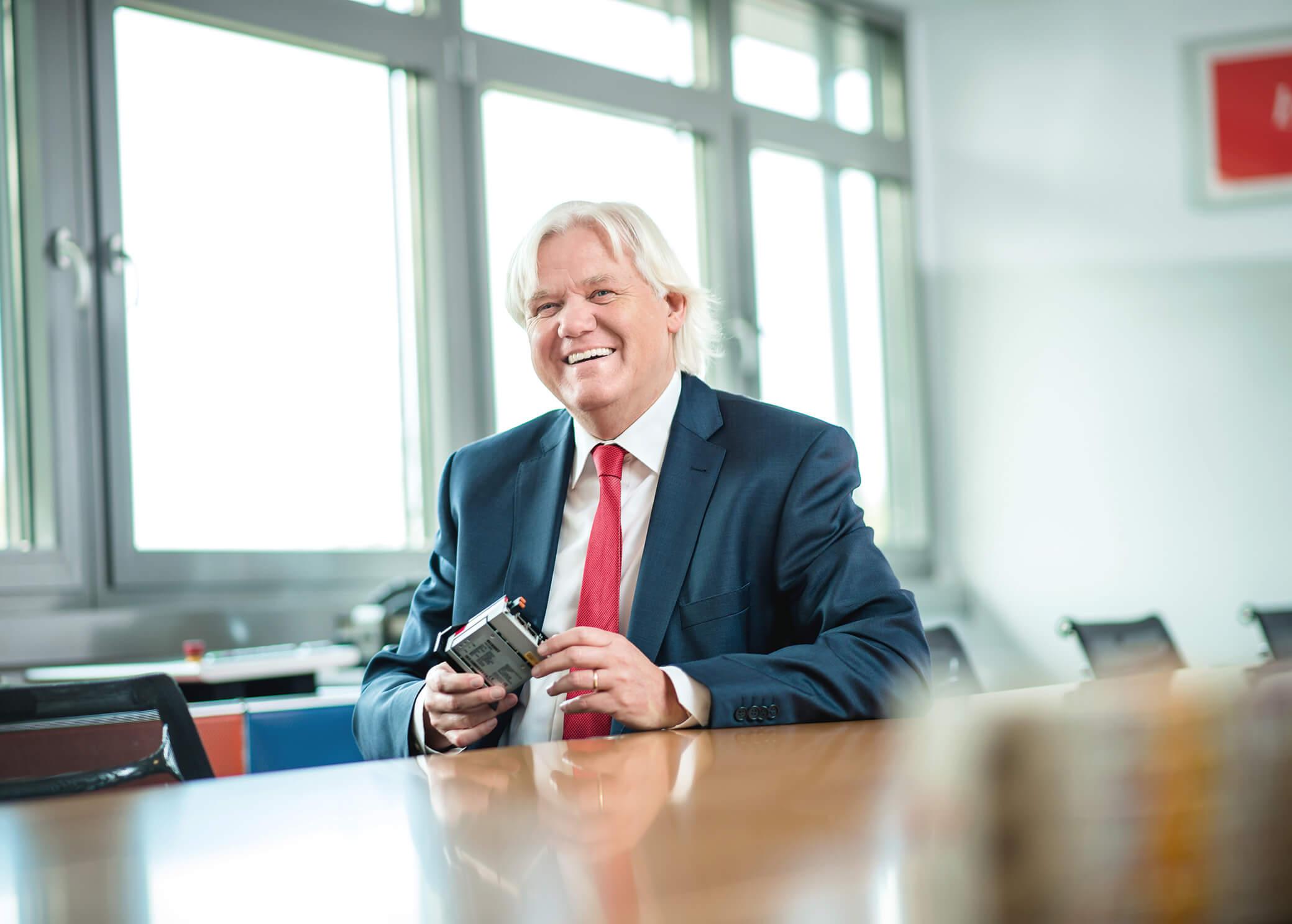 Hans Beckhoff, geschäftsführender Inhaber der Beckhoff Automation GmbH & Co. KG