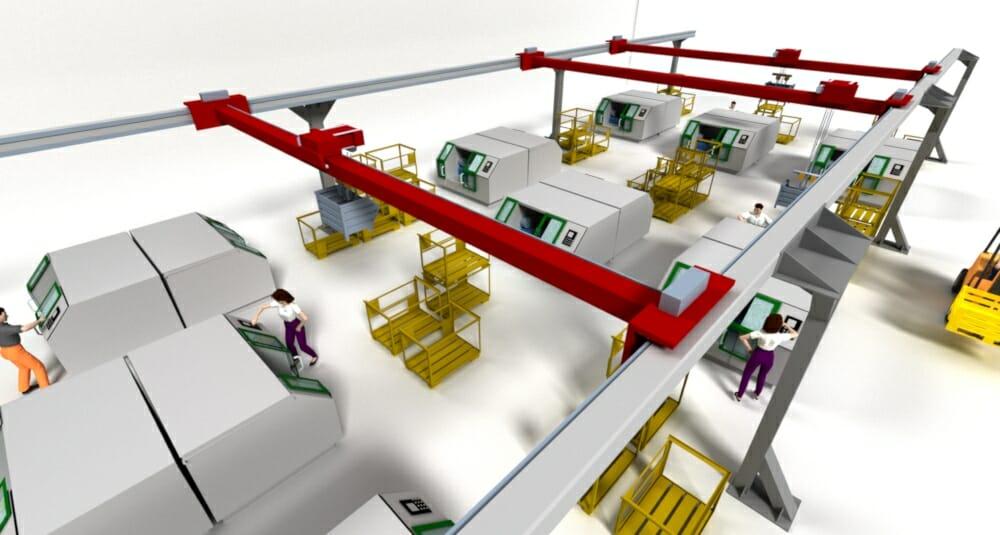 Logistikplanung mit Autocad-Schnittstelle