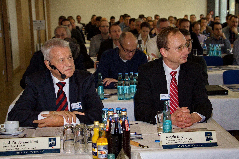 Prof. Dr. Jürgen Kletti, 1. Vorstand vom MES D.A.CH Verband e.V. und Herr Angelo Bindi, 2. Vorstand vom MES D.A.CH Verband e.V.