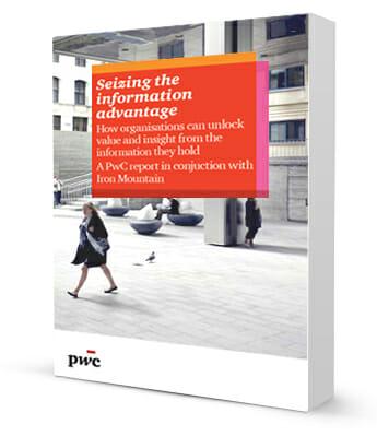 "Für die Studie ""Seizing the information advantage: How organisations can unlock value and insight from the information they hold"" befragten PwC und Iron Mountain 1.800 Entscheider."